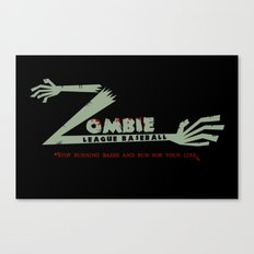 Zombie League Baseball Canvas Print
