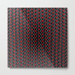 Covered in Vinyl / Vinyl records arranged in scale pattern Metal Print