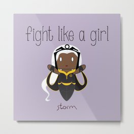 Fight Like a Girl 34 - Storm Metal Print
