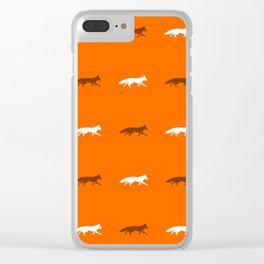 Orange Foxes! Clear iPhone Case