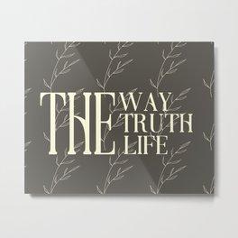 The Way (Bronze/Ivory) Metal Print