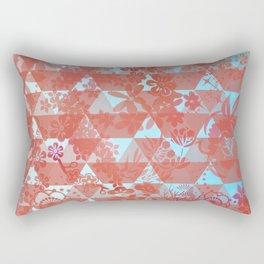 Retro orange & blue pattern Rectangular Pillow