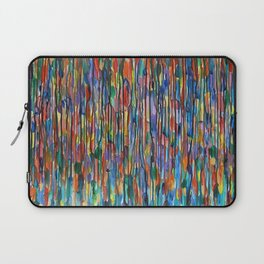 Bright Colorful Abstract Art with Red, Blue, Green, Purple, Yellow, Multicolor Striped Lines Laptop Sleeve