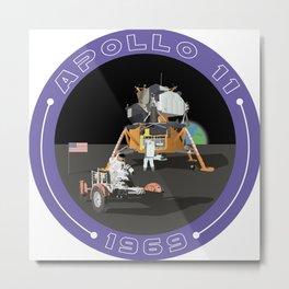 Apollo 11 Moon Landing Metal Print