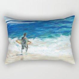 Lets surf Rectangular Pillow