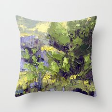 Evergreen Study Throw Pillow