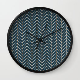 Lines Blue Background Wall Clock