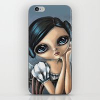 princess leia iPhone & iPod Skins featuring Leia by ZELYSS