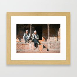 Bhaktapur Men Framed Art Print