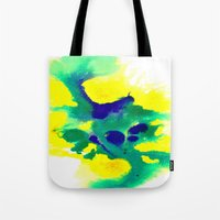 brazil Tote Bags featuring WATERCOLOR BRAZIL by Chrisb Marquez