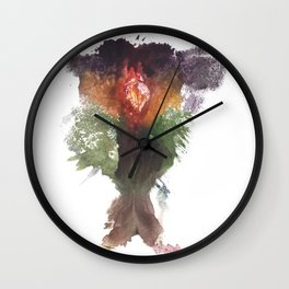 Devon's Vulva Print No.1 Wall Clock