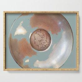 Silver Dollar, Silver Disk Art Serving Tray