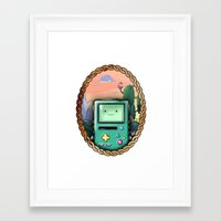 bmo Framed Art Prints featuring BMO!! by SempiternalILLUSTRATIONS