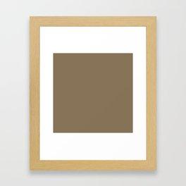 VERDE MAROON dusty solid color Framed Art Print