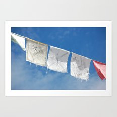 Flags in the Breeze Art Print