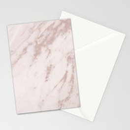 Real Rose Gold Marble Stationery Cards