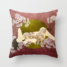 Sol de cerezo Throw Pillow