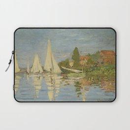 "Claude Monet ""Regattas at Argenteuil"" Laptop Sleeve"