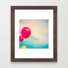High (Red balloons) Framed Art Print