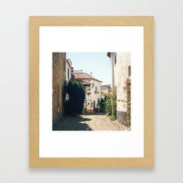 Obidos, Portugal (RR 179) Analog 6x6 odak Ektar 100 Framed Art Print