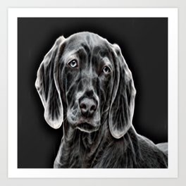 Weimaraner - The Gray Ghost Art Print