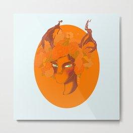 Deer To Be Different Metal Print