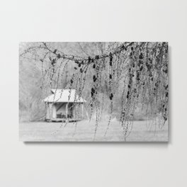 Distant Tea House Metal Print