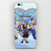 kingdom hearts iPhone & iPod Skins featuring Kingdom Hearts by clayscence