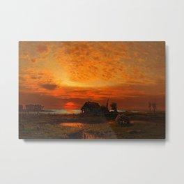Coastal Landscape Late August Sunset Metal Print