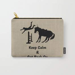 Keep Calm & Get Back On The Horse Black Carry-All Pouch