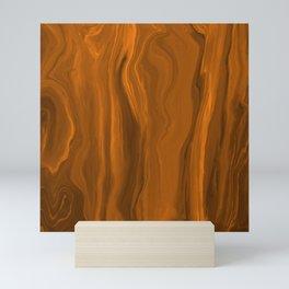 Marblesque Orange 1 - Abstract Art Marble Series Mini Art Print