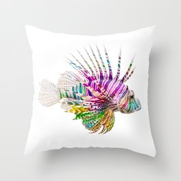 When I Dream of Lionfish Throw Pillow