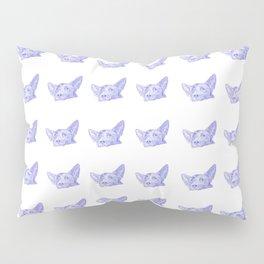 mitzi takes it easy, blue pattern Pillow Sham