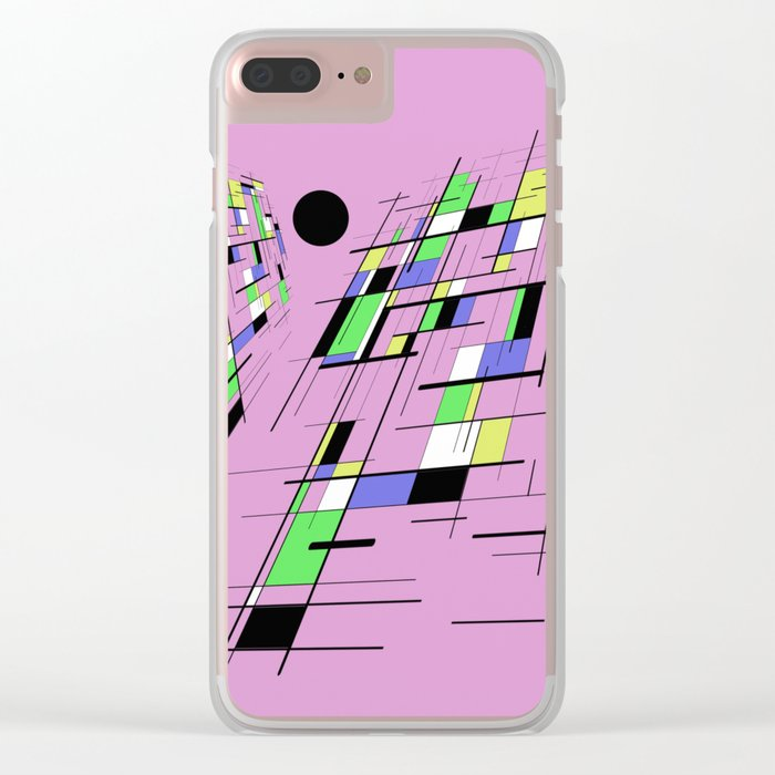 Bad perspective - Abstract, vector, geometric, 3D style artwork Clear iPhone Case
