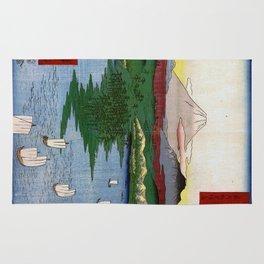 Noge and Yokohama by Hiroshige Rug