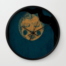 Moon With The Blues Wall Clock