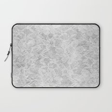 White Lace Laptop Sleeve