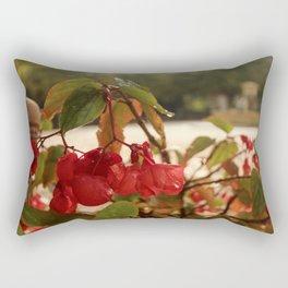 Red French Fall Flower Rectangular Pillow