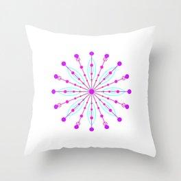 Space Flower Throw Pillow