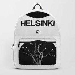 Helsinki Black Subway Map Backpack