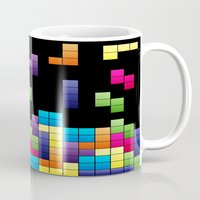 tetris Mugs featuring Tetris Troubles. by Digi Treats 2