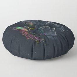 astronaut jellyfish space digital art Floor Pillow