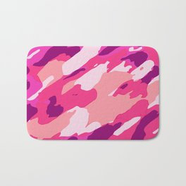 pink purple and soft pink camouflage graffiti painting abstract background Bath Mat