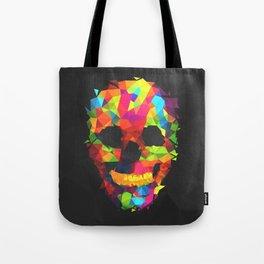 Meduzzle: Colorful Geometry Skull Tote Bag