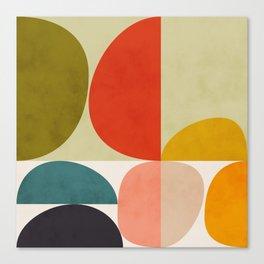 shapes of mid century geometry art Canvas Print