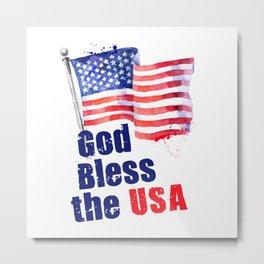 God Bless the USA Metal Print