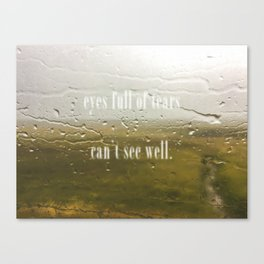 Eyes full of tears can see well Canvas Print
