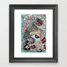 The eye looking flower Framed Art Print