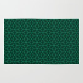 emeral green patern Rug