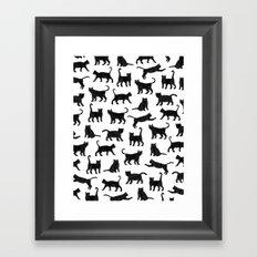 Le petits chats Framed Art Print